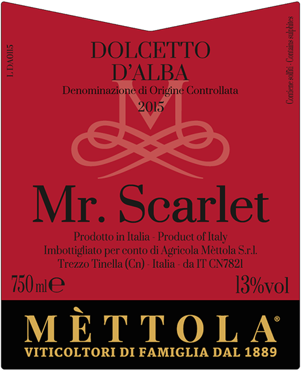 Dolcetto d'Alba Doc - Mr Scarlet